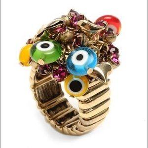 Betsey Johnson evil eye ring